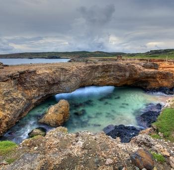 wideangel del puente natural en aruba