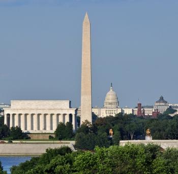 lincoln memorial, washington memorial y edificio del capitolio