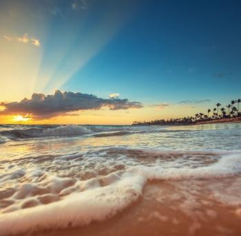 playa exótica en república dominicana, punta cana