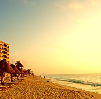 la playa en cancun