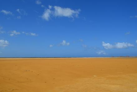 Paisaje desiertos en La Guajira