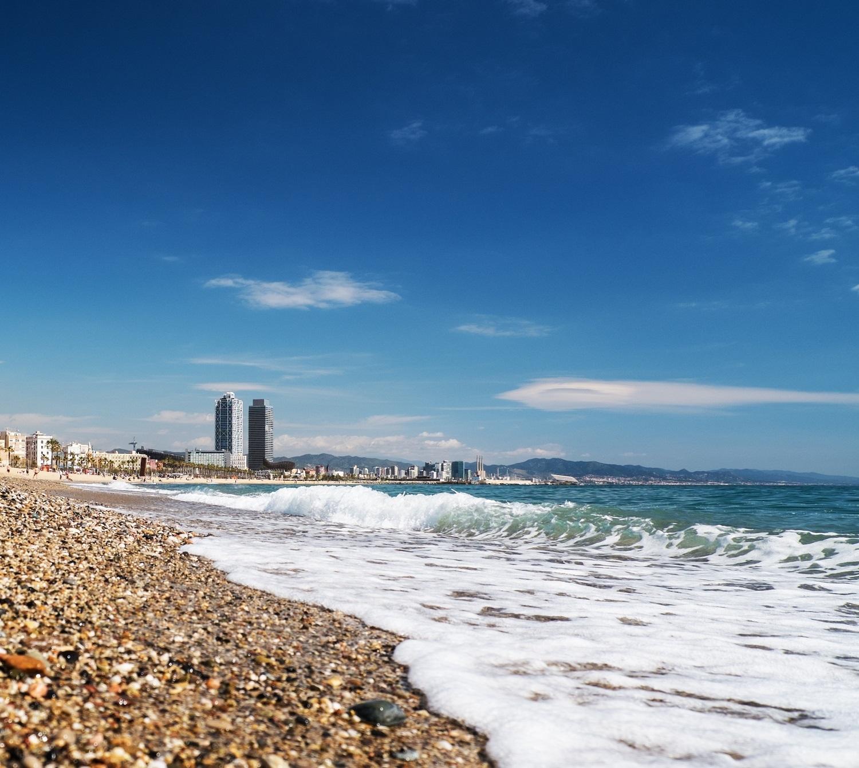beautiful beach in barcelona